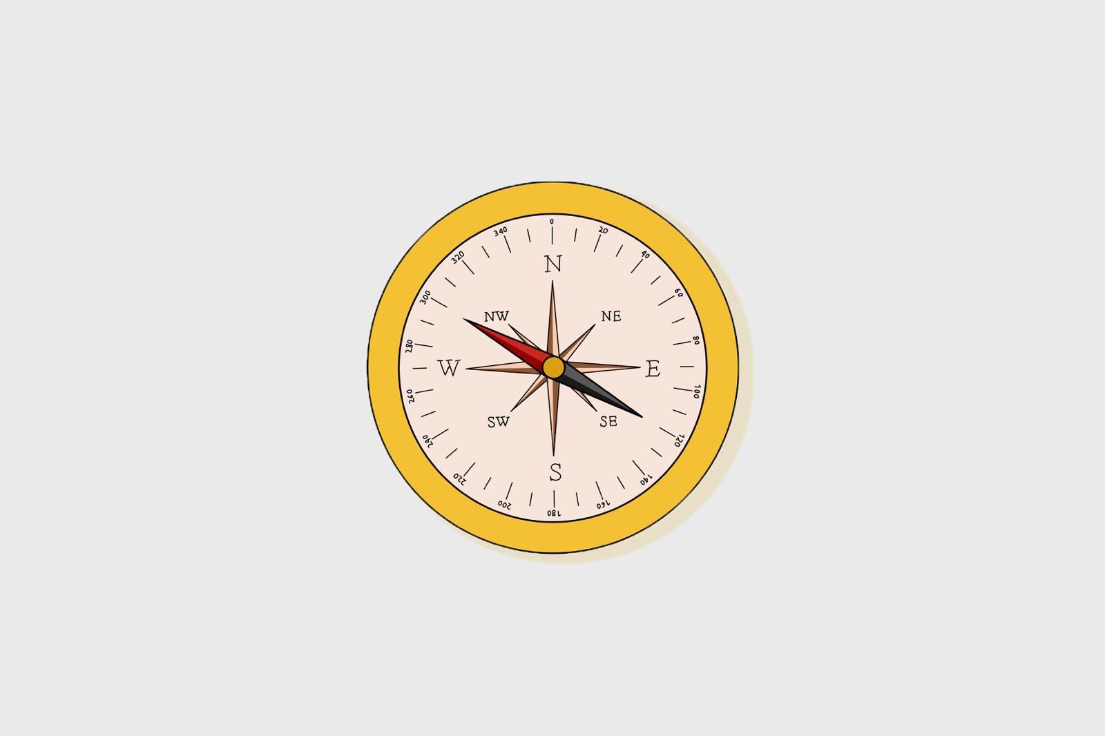 Ein gemeinsamer Kompass, der Ausschlag deiner Kompassnadel zeigt uns die Richtung. Ein gemeinsamer Kompass.