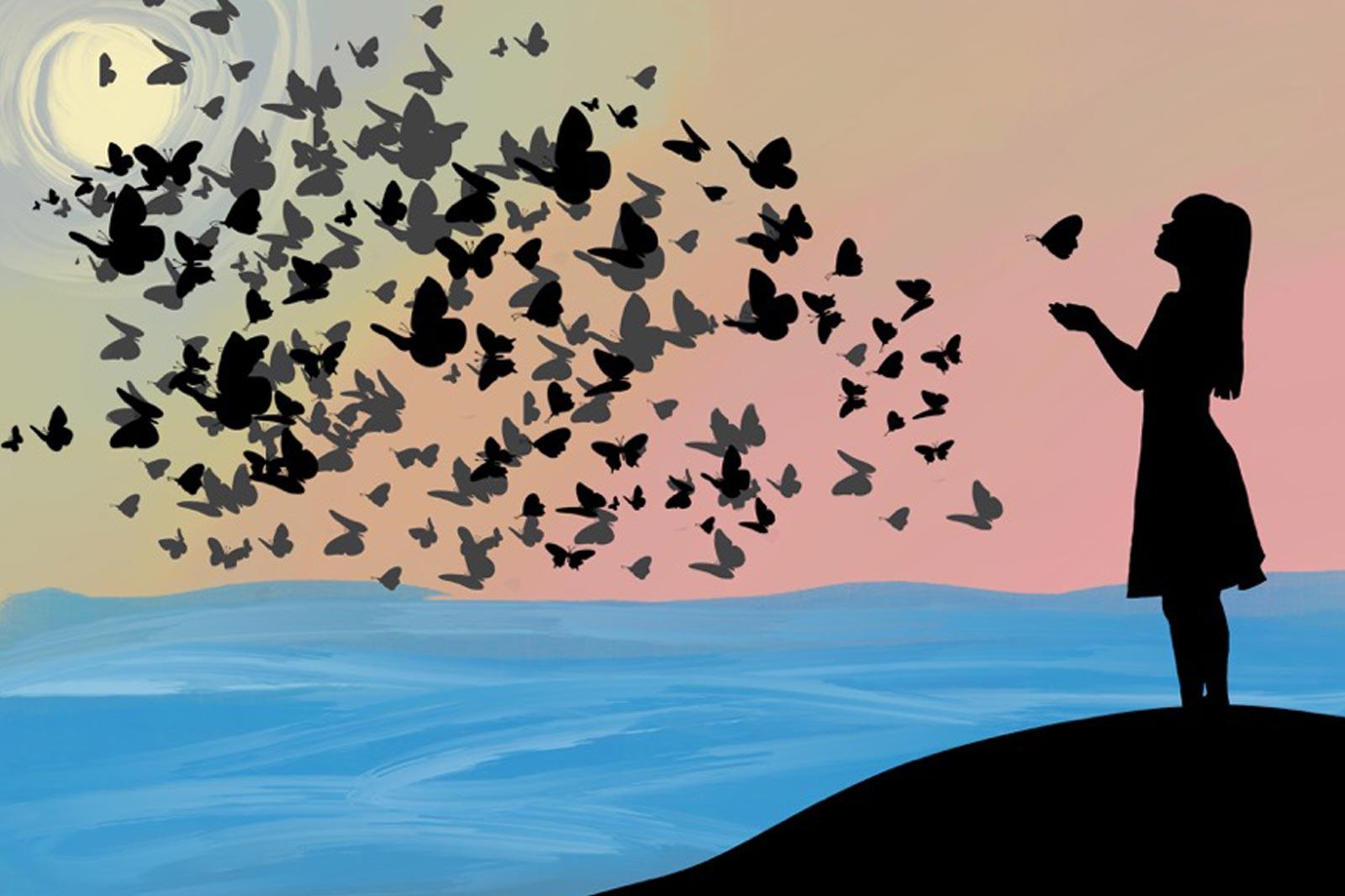Am Ozean der Trauer spüre ich den sanften Flügelschlag der Liebe.